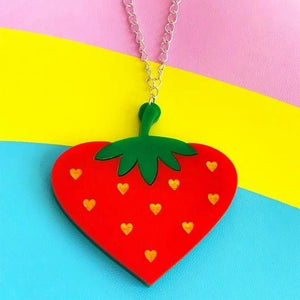 Strawberry Acrylic Necklace
