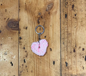 Crotchet Heart Keyring- Single
