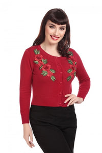 Collectif Mainline Jessie Occasion Rose Cardigan