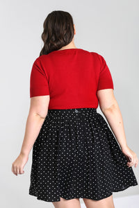 Heart Keyhole Top Red