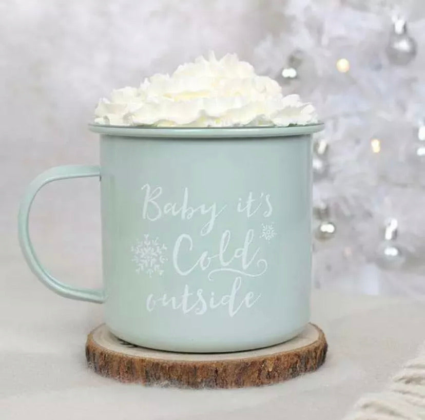 Baby It's Cold Outside Enamel Mug