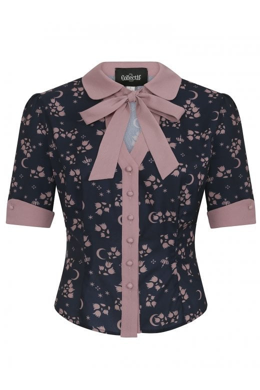 Collectif Mainline Eleanor Moonflower Blouse