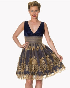Midnight Gold Party Dress