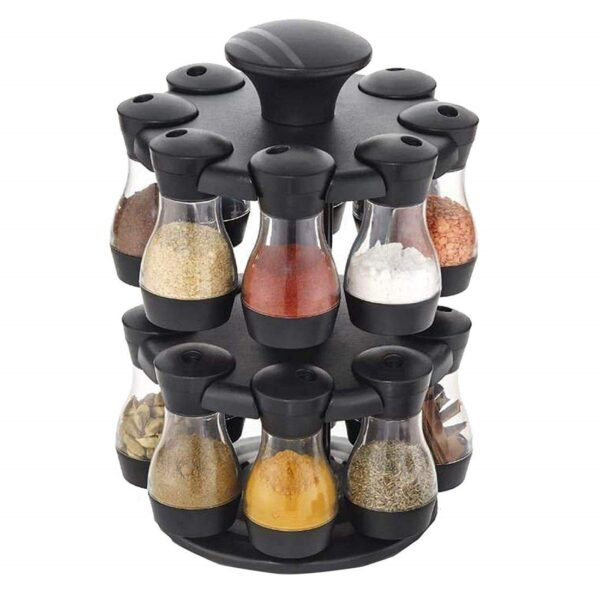 Spice Rack 16 in 1 Brown Masala Rack Set (Brown Color)