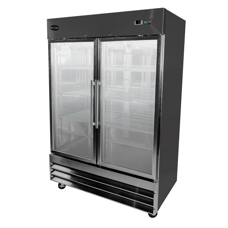 SABA S-47FG - Two Glass Door Commercial Reach-In Freezer