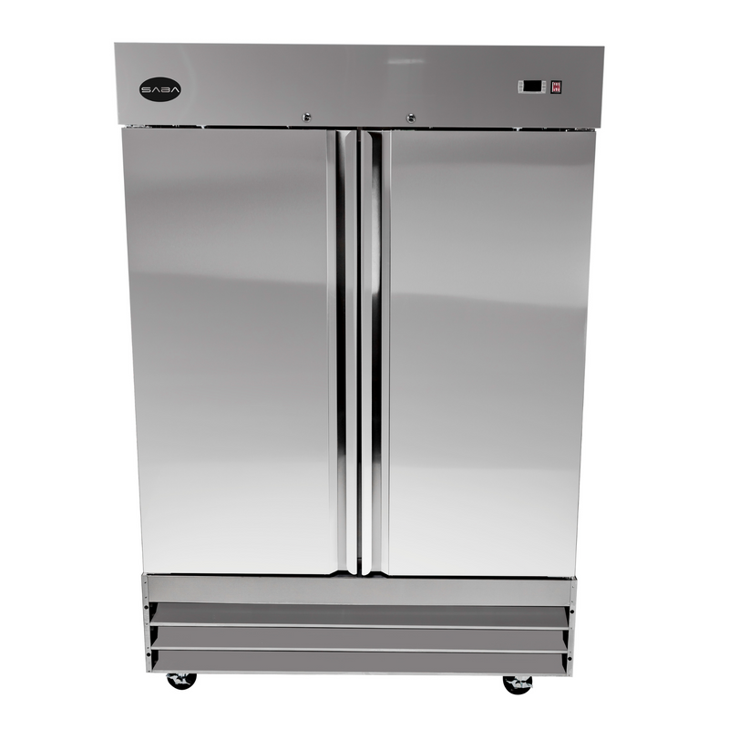 SABA S-47R - Two Door Commercial Reach-In Stainless Steel Cooler