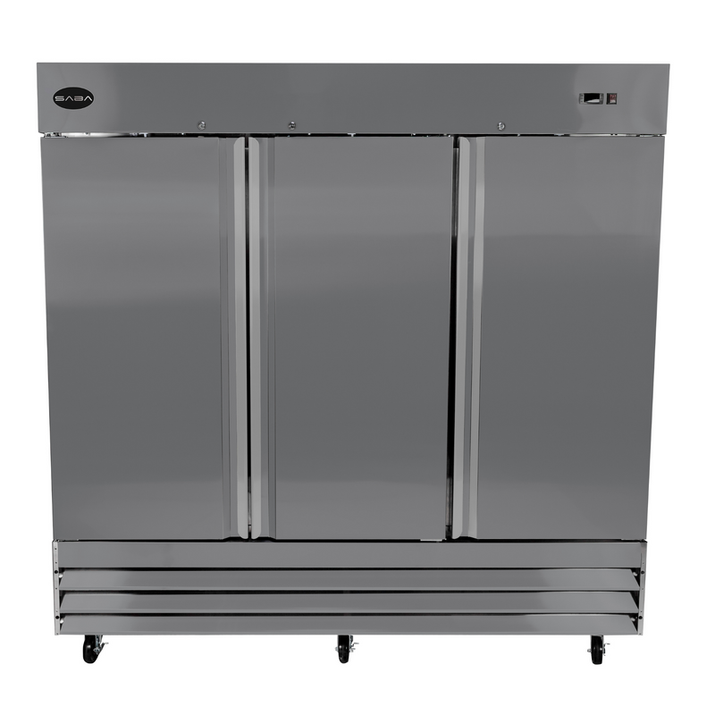 SABA S-72R - Three Door Commercial Reach-In Stainless Steel Cooler