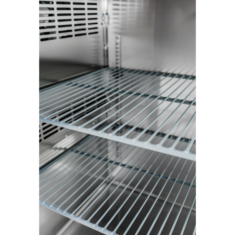 "SABA SBB-24-48GSS - 24"" Depth 48"" Two Glass Door Commercial Back Bar Cooler (Stainless Steel)"