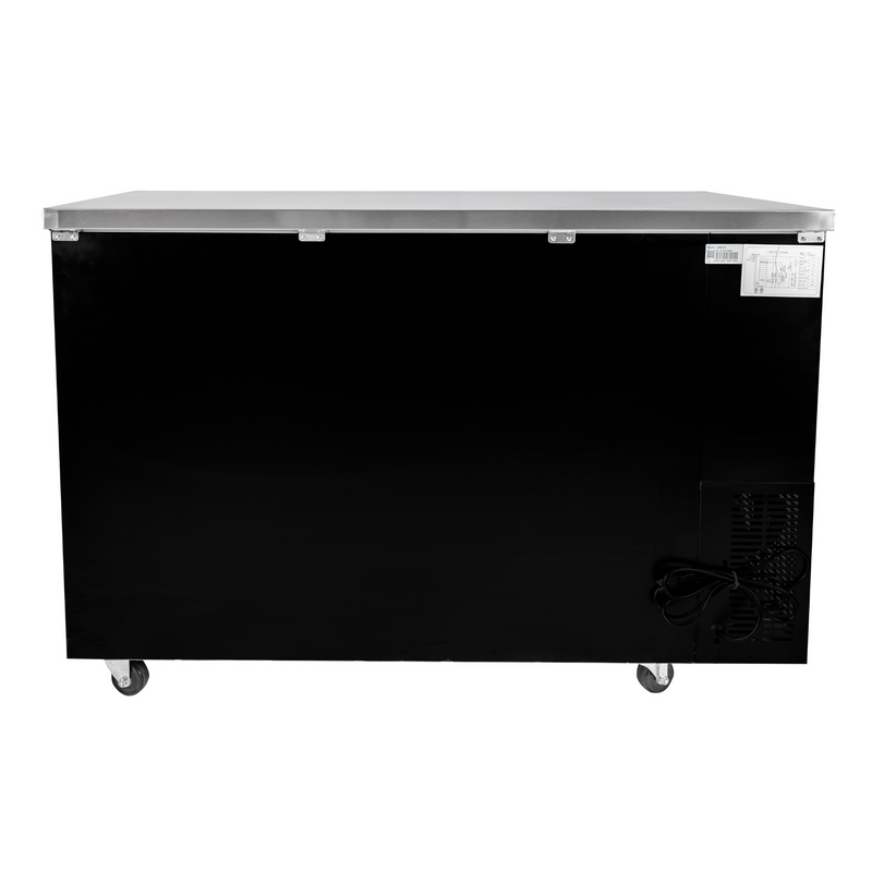 "SABA SBB-24-60G - 24"" Depth 60"" Two Glass Door Commercial Back Bar Cooler (Black)"
