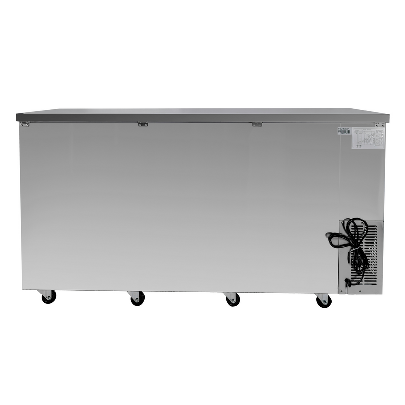 "SABA SBB-24-72GSS - 24"" Depth 72"" Three Glass Door Commercial Back Bar Cooler (Stainless Steel)"