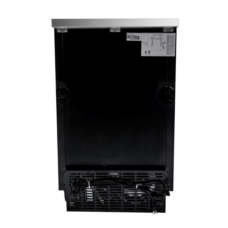 "SABA SBB-27-23B - 27"" Depth 23"" One Door Commercial Back Bar Cooler (Black)"