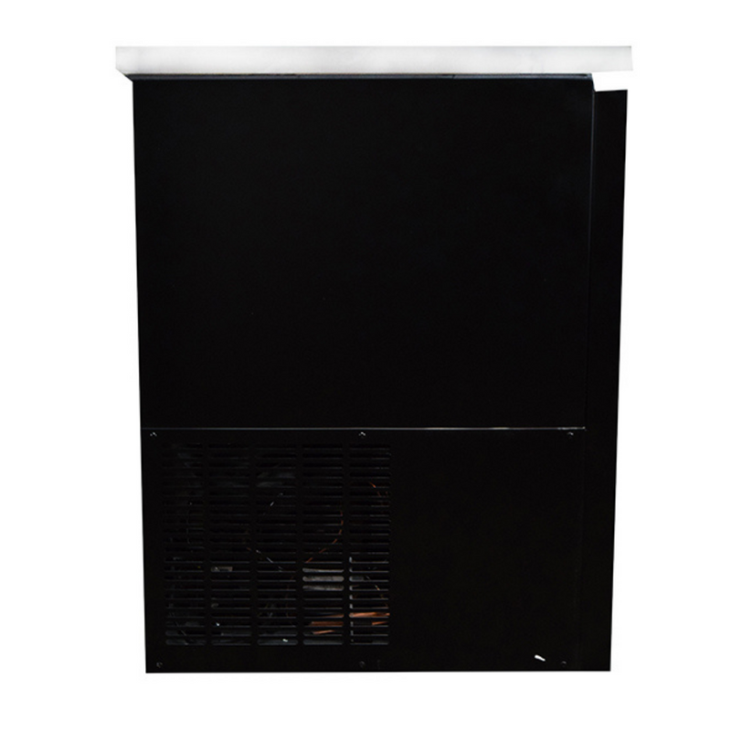 "SABA SBB-27-58B - 27"" Depth 58"" Two Door Commercial Back Bar Cooler (Black)"