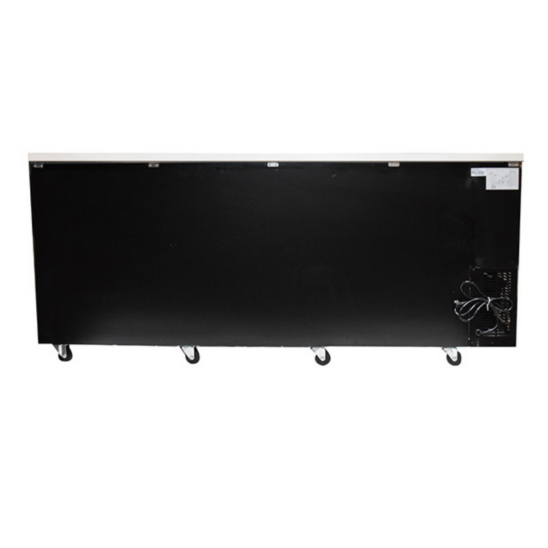"SABA SBB-27-90B - 27"" Depth 90"" Three Door Commercial Back Bar Cooler (Black)"