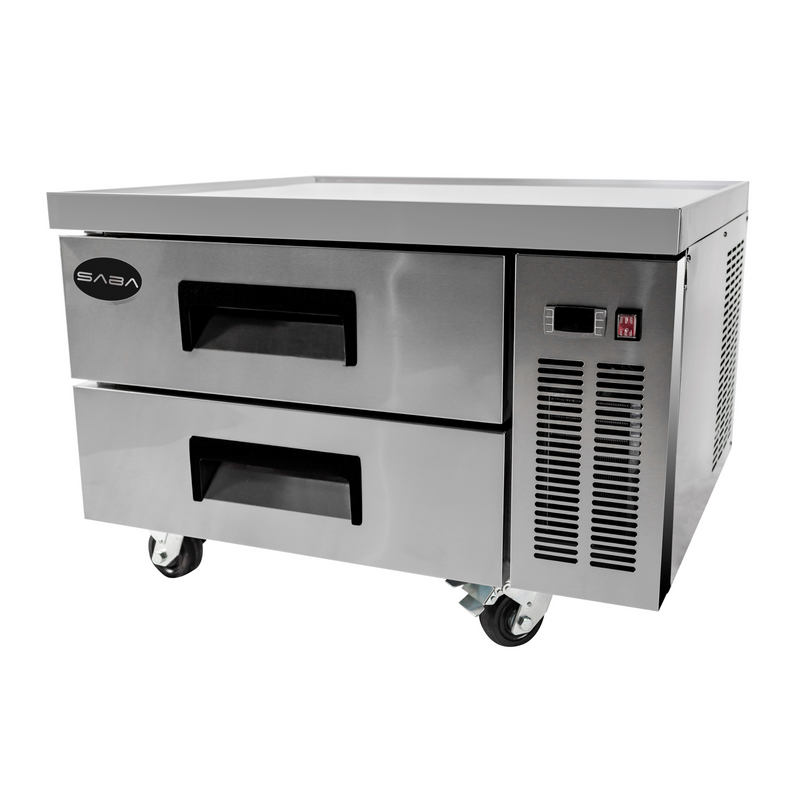 "SABA SCB-36 - 36"" Two Drawer Commercial Chef Base Cooler"