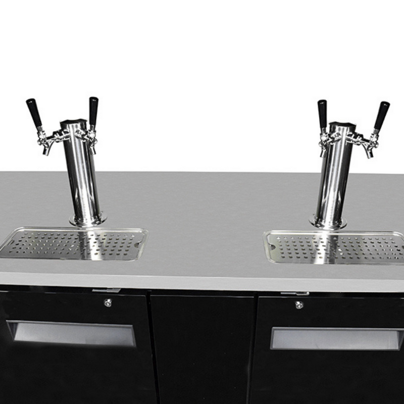 "SABA SDD-27-69 - 69"" Two Door Commercial Draft Beer Dispenser"