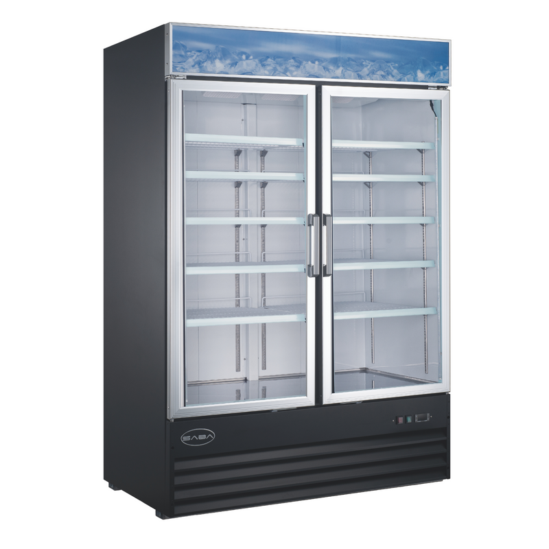 SABA SM-45F - Two Glass Door Commercial Merchandiser Freezer