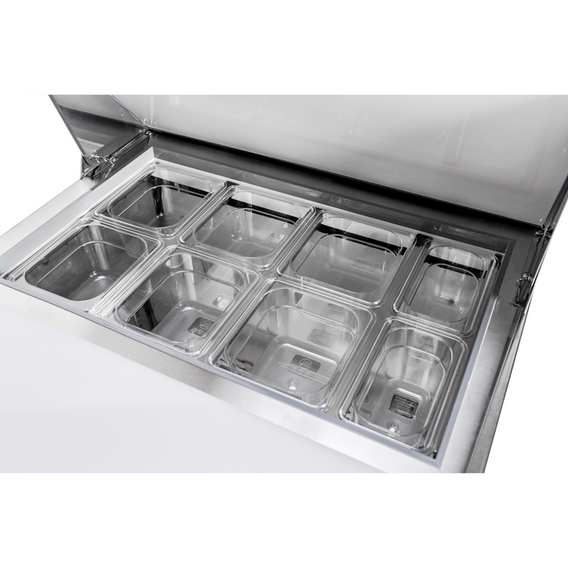 "SABA SPS-27-8 - 27"" One Door Commercial Sandwich Prep Table with 8 Pans"