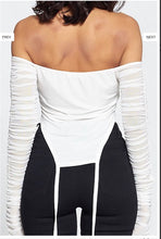 Load image into Gallery viewer, Off The Shoulder Top-White Sheer