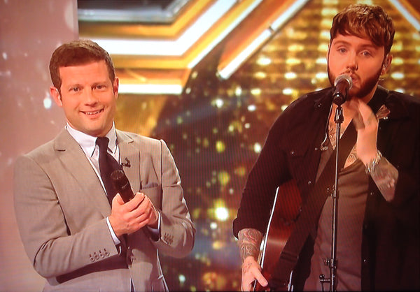 Dermot O'leary wearing a Guy Field Tab Collar Shirt