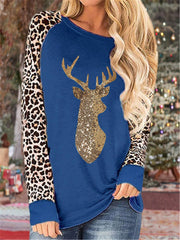 Shining Sequin Long Sleeve Shirts