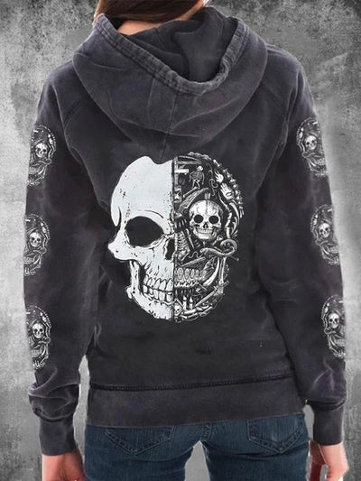 Hoodie Statement Cotton-Blend Sweatshirt