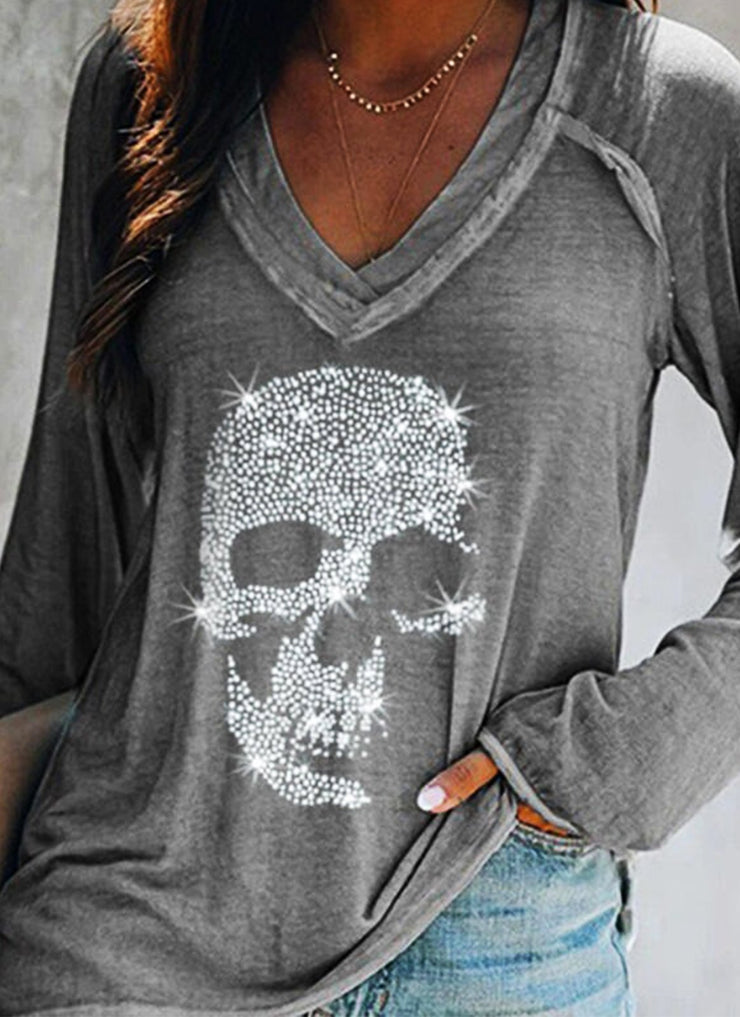 Gray Casual Shift Beaded Shirts & Tops
