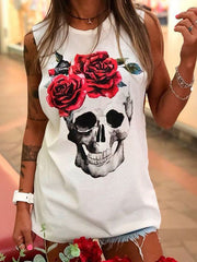 Printed Sleeveless Shirts & Tops