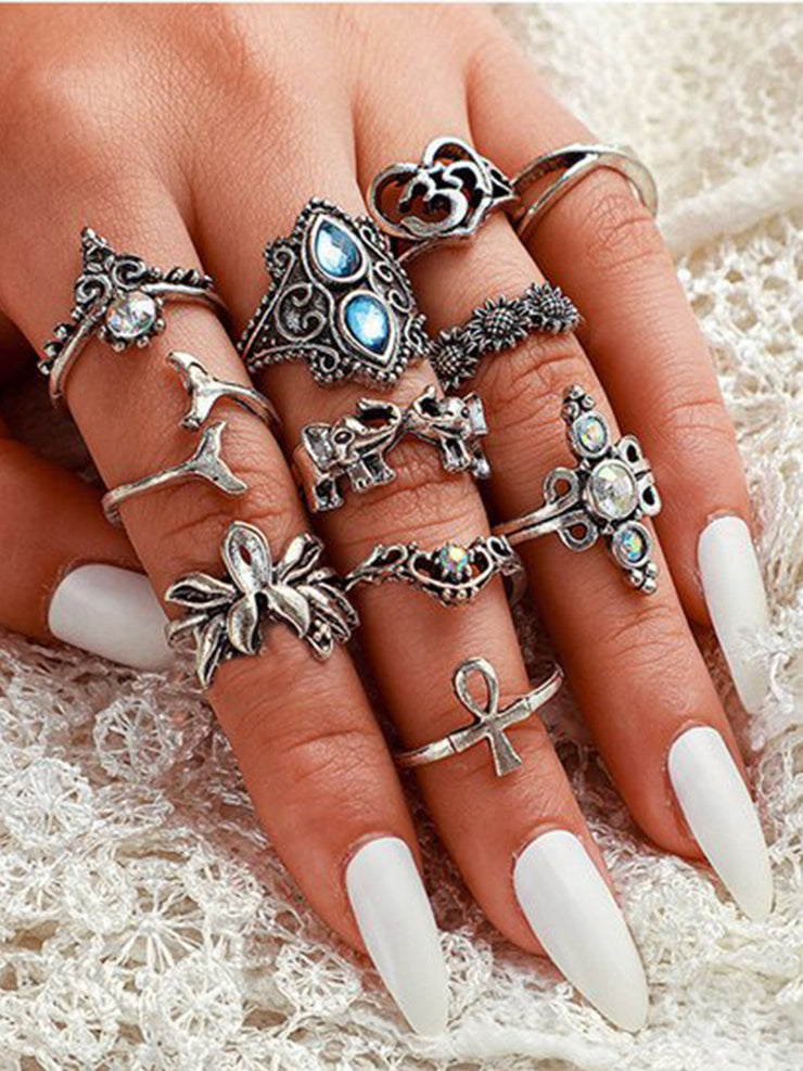 As Picture Casual Alloy Rings