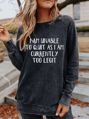 Letter Long Sleeve Casual Shirts & Tops