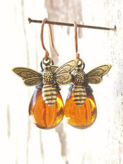 Bee Alloy Earrings