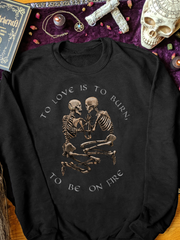 Black Casual Skull Men&Women's Fashion Print Sweatshirt
