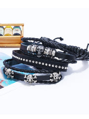 Golden Pu Casual Bracelets