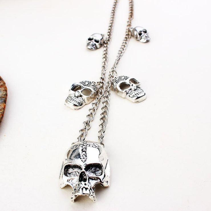 Skeleton neck chain ghost face Skull Casual Necklaces