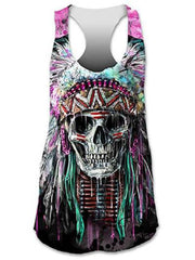 Cotton-Blend Sexy Printed Vests