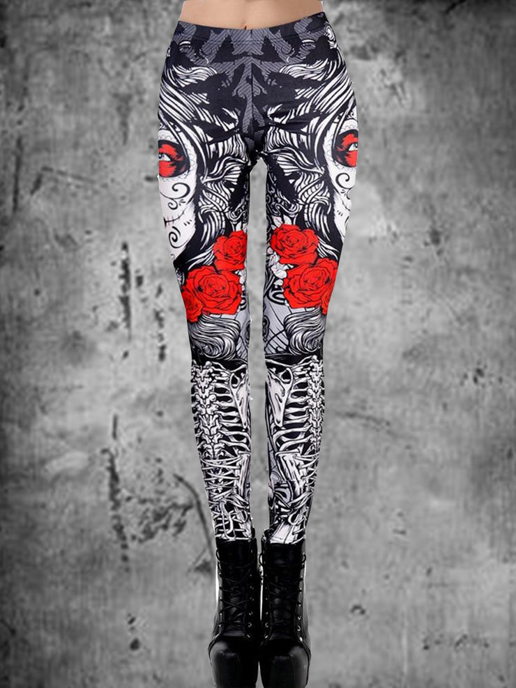 Graffiti Casual Printed Pants
