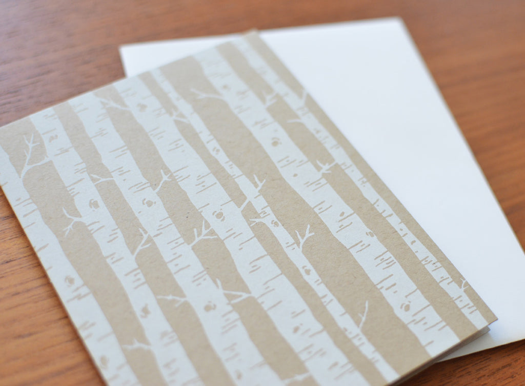 greeting card subscription box stationery birch trees