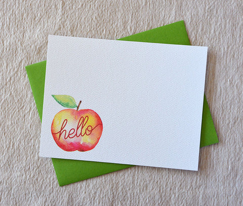 Hello Apple Note Cards