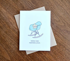 eames mid century modern rocking chair baby shower card