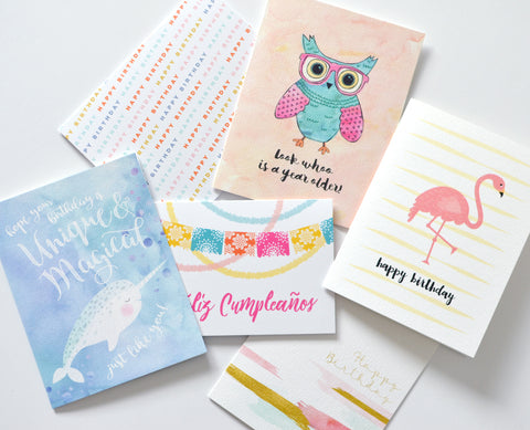 Birthday Cards Mystery Packs