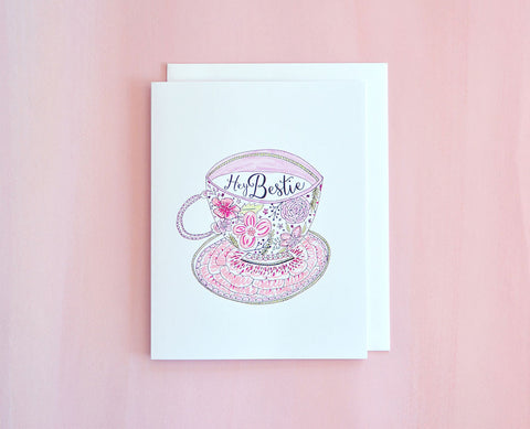 Bestie Teacup Card