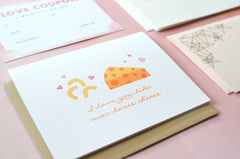 Macaroni and Cheese Valentine's Card