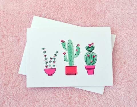 Desert Cactus Love Card