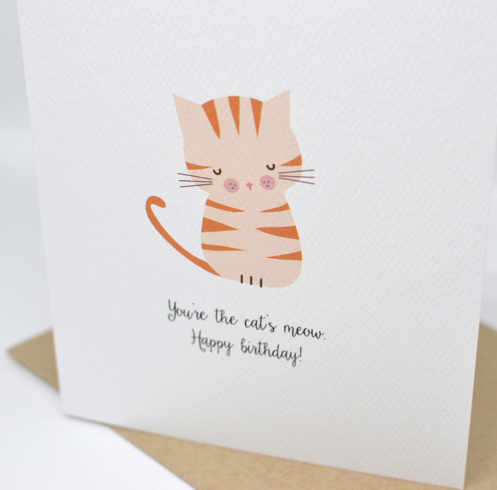 Youre The Cats Meow Happy Birthday Card