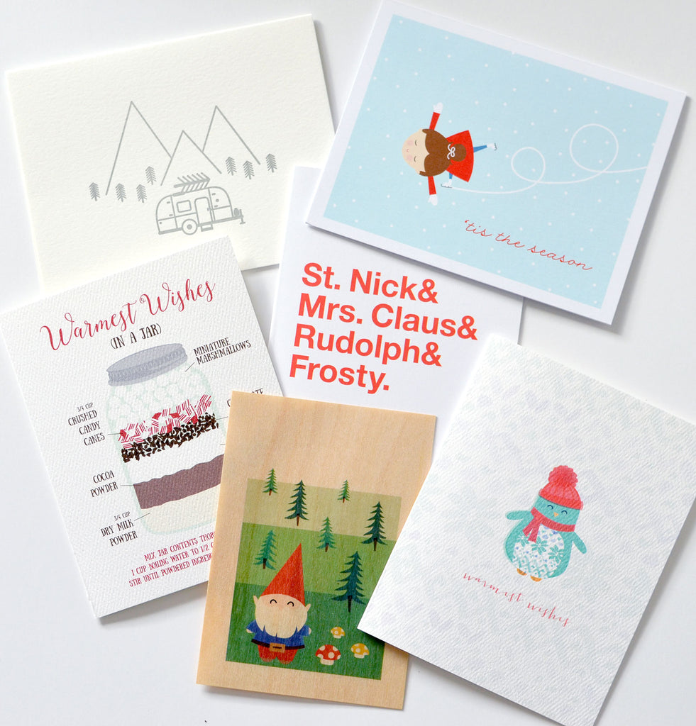 holiday cards mystery packs