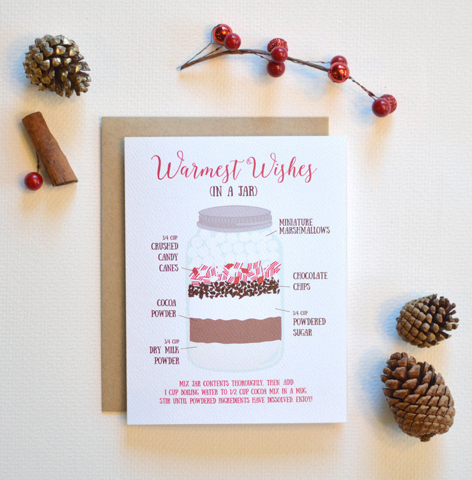 Warmest Wishes Cocoa Recipe Holiday Card