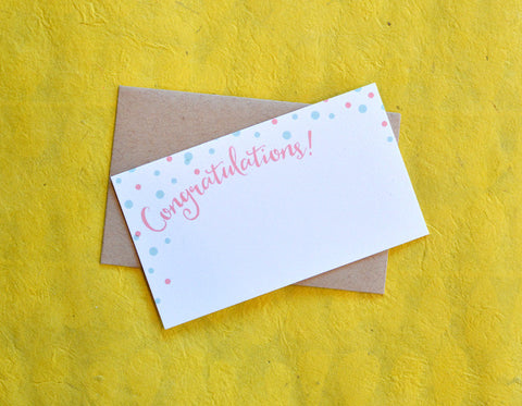Congratulations Mini Card