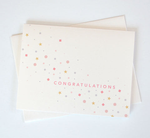 Congratulations Confetti Sparkle Card