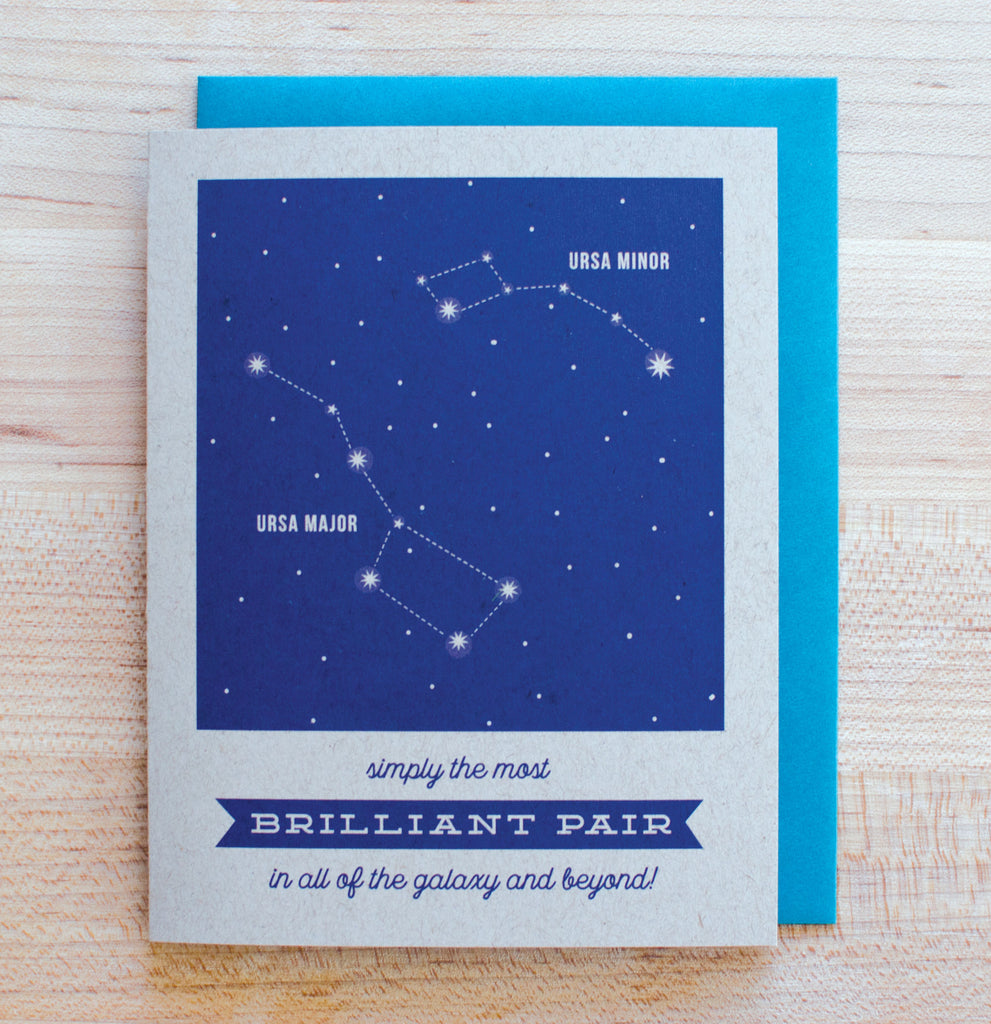 Brilliant Pair Constellation Card