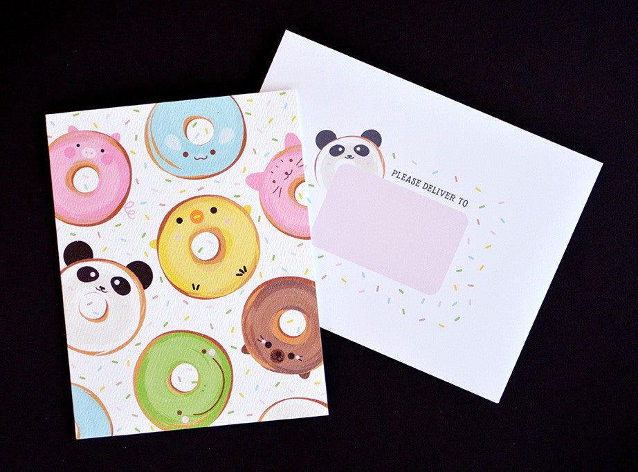 happy cute kawaii donut doughnut animals