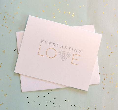 Everlasting Love Metallic Diamond Card